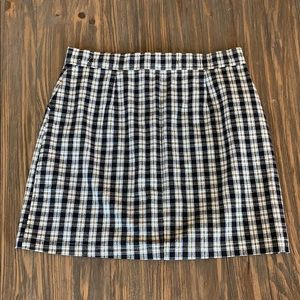 Hollister Skirts - Plaid Button Down Skirt with Side Pockets